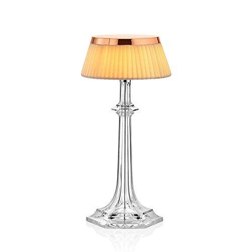 Flos Bon Jour Versailles Small Lampe de table avec structure cuivre et abat-jour tissu 220 Volt