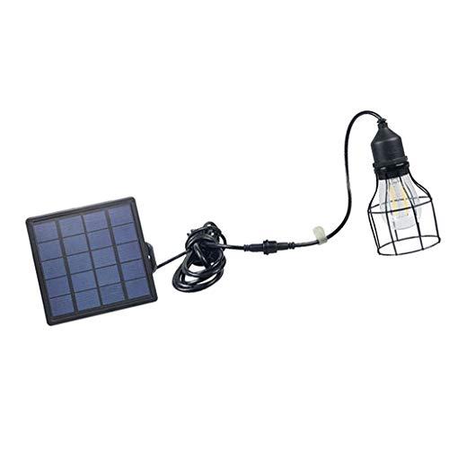 perfeclan Solar Hängelampe/Pendeleuchte/Außenlampe mit Solar Panel und Zugschnur & Zeit Einstellung, umweltfreundlich - B# -