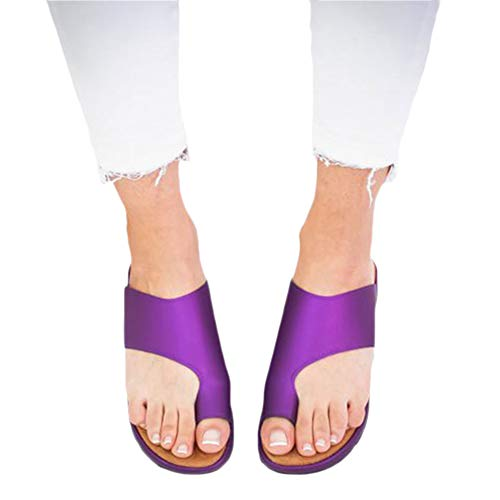 omen Comfy Platform Wedge Open Toe Sandal Shoes Summer Beach Travel Shoes Violett 42EU ()