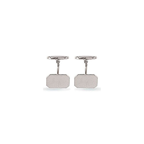 Jewelco Europa Hommes Or blanc 9k T-shape Boutons de manchette