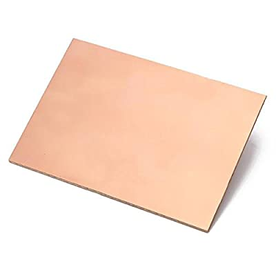 AnandCircuits FR2 Single Sided Copper Clad Circuit Board PCB 5 X 2.5 Inch Paper Phenolic (5 Pieces)