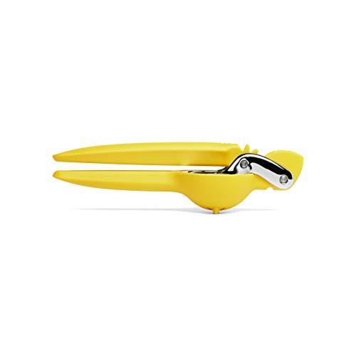 Chef\'n Zitronenpresse FreshForce, manuelle Saftpresse, Handpresse, Zitronenentsafter zum leichten Auspressen von Zitrusfrüchten (Farbe: Gelb/Silber), Menge: 1 Stück