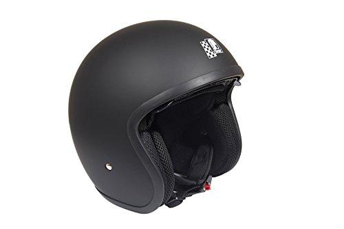 Römer Helmets Motorradhelm Custom, Matt Schwarz, Größe L - 6
