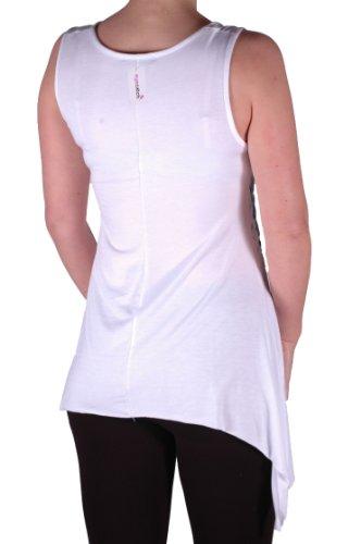 EyeCatch - Débardeur drapé stretch - Tigre - Femme - Grandes Tailles Blanc