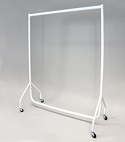 Stabiler Kleiderständer, Breite 92cm, weiß