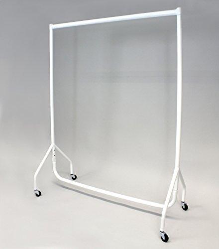 Stabiler Kleiderständer, Breite 122cm, weiß