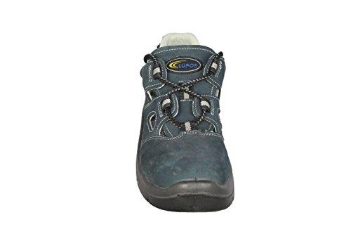Lupos SL-7 S1P Bauschuhe Sicherheitsschuhe Sandale Blau Blau