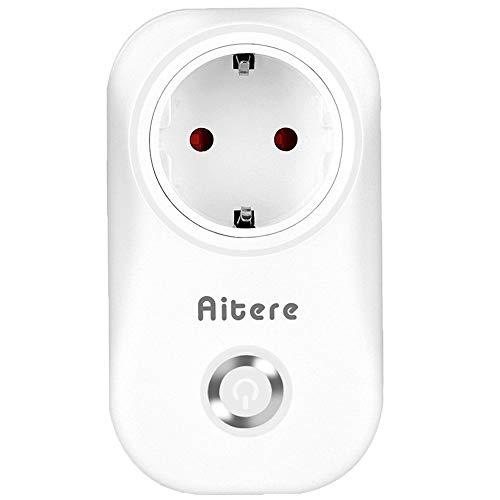 Aitere WLAN Smart Steckdose Intelligente Steckdose Wifi Stecker fernbedienbar Timer, funktioniert mit Amazon Alexa [Echo, Echo Dot] und Google Home