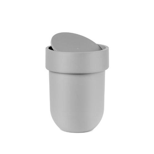 Umbra Touch Basura para baño, Gris, Cubo con tapa