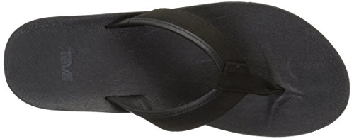Teva Azure Flip Leather W's, Tongs Femme Noir (Black)