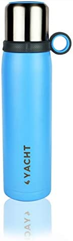 Yacht Vacuum Insulated Stainless Steel Double-Wall Thermos Flask, Solid, 600 ml, Blue