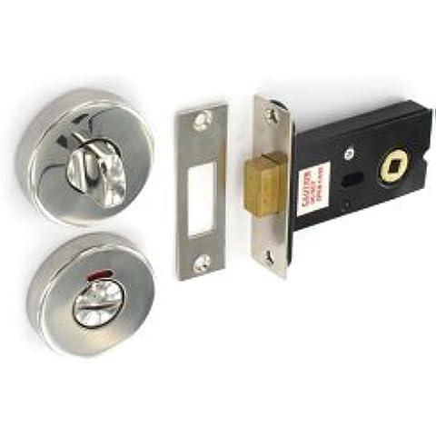 Securit - Pulido s / s puerta del baño cerrojo de bloqueo a su vez el pulgar