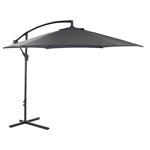 Bentley Garden 3M Hanging Banana Patio Garden Umbrella Parasol
