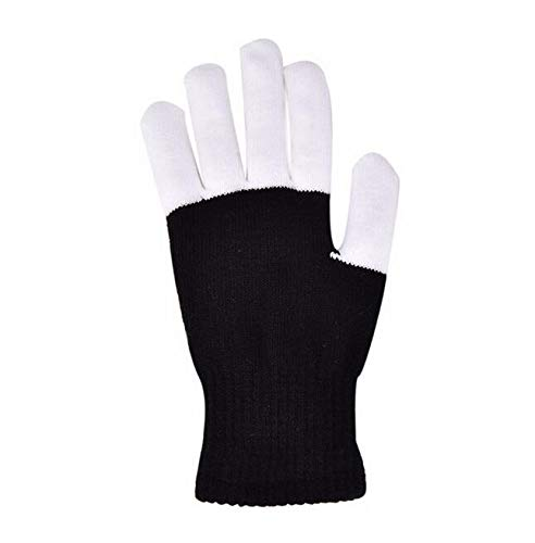 uheit led Glow Handschuhe blinkende Finger Kinder kinderspielzeug Beleuchtung Handschuhe Magic Black Luminous Handschuhe ()