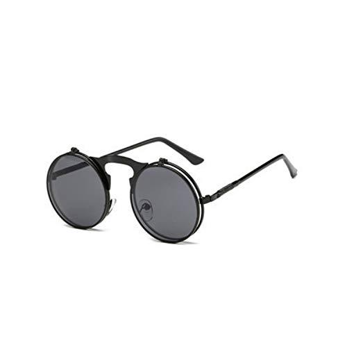 Sport-Sonnenbrillen, Vintage Sonnenbrillen, NEW Metal Steampunk Sunglasses Women Men Retro Fashion Round Shade Clamshell Glasses Male Female Driving Eyewear Gift 01