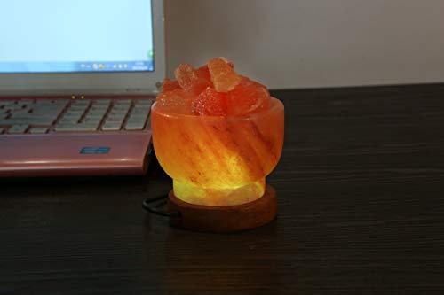 Lampada di sale dell'himalaya lampada in cristallo ad aria purificataadatta per casa o ufficio per camera da letto ufficio spa sala yoga (a3)