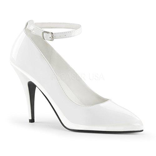PleaserUSA Damen High Heel-Pumps Vanity-431 Abendschuhe Ausgehschuhe Tanz Gala Elegant Lack Weiß