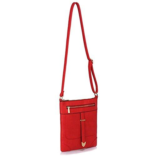 LeahWard® Kreuzkörper Schmetterling Taschen nett Groß Schulter Handtaschen 481 Rot Umhängetasche