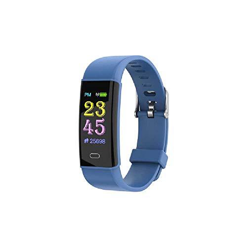 HTTXSBL Sportuhr Fitness Tracker Herzfrequenzerkennung Farbdisplay Bewegung Echtzeitüberwachung IP67 wasserdicht bleu