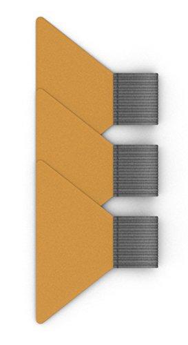 3er Sparpack | SELBSTKLEBENDE STIFTSCHLAUFEN silbergrau für Notizbücher und Terminkalender | Transparentes und sicher haftendes Klebepad