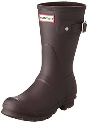 Hunter Women's original short wellington boots Chocolate W23758 3 UK