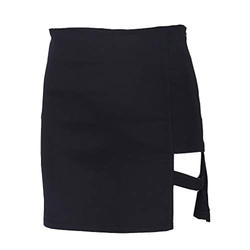 RuiruiNIE Estilo Coreano Paquete Negro Faldas Cadera