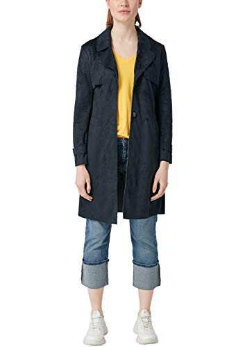 s.Oliver RED LABEL Damen Trenchcoat in Veloursleder-Optik Navy 32