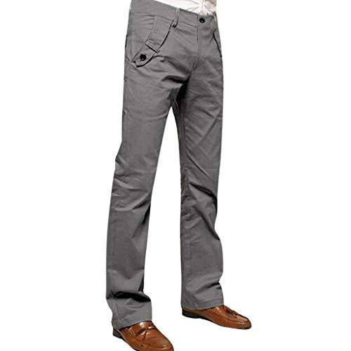 Hosen Männer Lange Hosen i-uend Männer Vintage Feste Hosen Knopf Männer Hohe Taille Bleistift Hosen Männer Dünne Hosen Dünne Männer Hosen Arbeit -