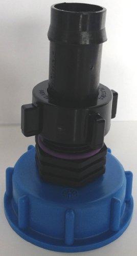 CMTech GmbH Montage Technik cm135288 Casquette Raccord S60 x 6 avec Embout Plastique + écrou-raccord, IBC conteneur de Accessoire pour Réservoir D'eau de Pluie Adaptateur de raccord de bidon