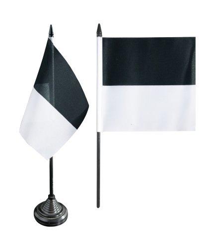 Flaggenfritze® Tischflagge Schweiz Kanton Freiburg - 12 x 12 cm
