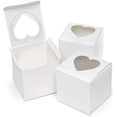 UMM 374.704 cajas del favor de la magdalena en forma de coraz-n - Blanco