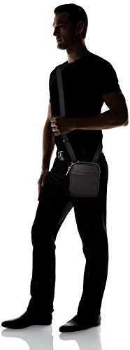 Calvin Klein Power Logo Mini Flat Crossover, Sacchetto Uomo, Nero (Black), 3x20x17 cm (b x h x t) Nero (Black)