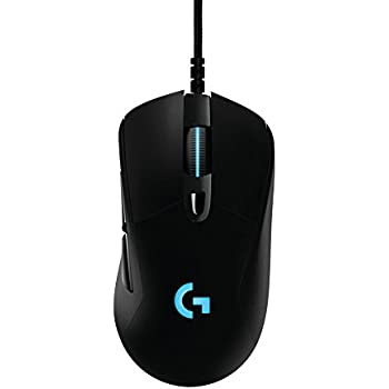 Logitech G403 - Ratón óptico con cable para gaming (12.000 DPI, 16,8 millones de colores, PC, MAC, USB), color negro
