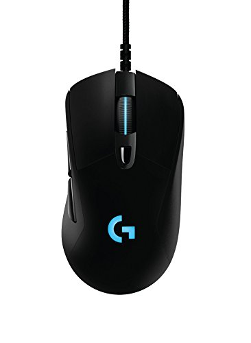 Logitech G403 - Ratón óptico con cable para gaming (12.000 DPI, PC, MAC, USB), color negro
