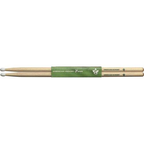 Stagg 17097 7A Hickory-Holz Trommelstöcke (1-Paar, V-Serie, Nylon Kopf)