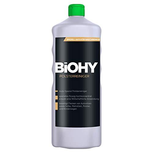 BIOHY Spezial Polsterreiniger 1 Liter Flasche - Ideal für Autositze, Sofas, Matratze etc, auch für Waschsauger geeignet
