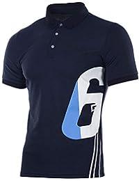 POLP Polo Shirt Camiseta de Polo de Fútbol de Manga Corta Verano Casual Camisas Cuello de