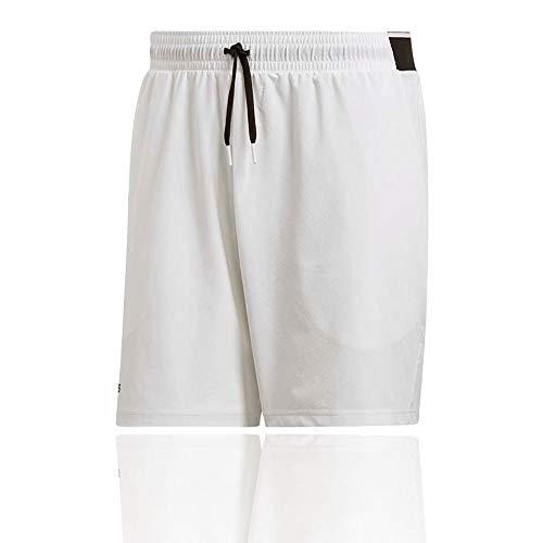 adidas Herren Club 7 Zoll Shorts, White, L