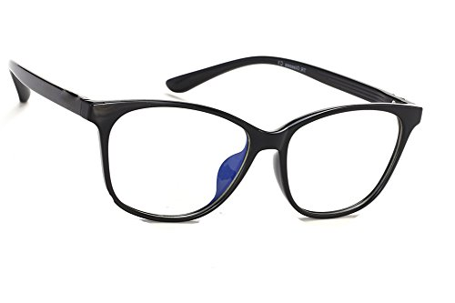 MFAZ Morefaz Ltd Damen Herren Blaulichtfilter Brille Blendschutz, Anti, Kratzfestes Objektiv Computer TV Anti Glare Glasses (Black T8004)