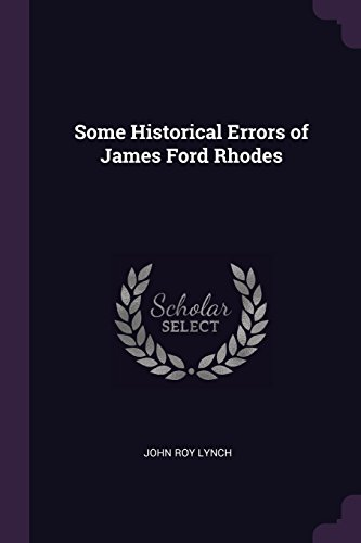 Some Historical Errors of James Ford Rhodes