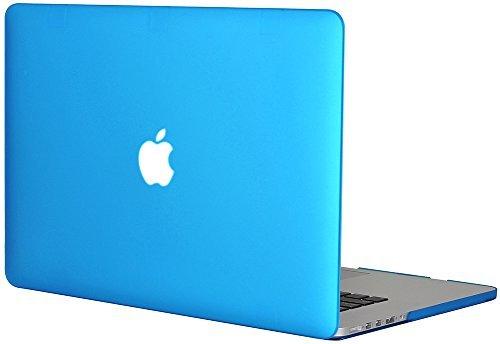 Generic Matt Tasche Case für Apple MacBook Pro Retina 15 Zoll mit Retina Display Model Schutzhülle Etui (ohne Apple Ausschnitt logo) Model A1398-Baby Blau