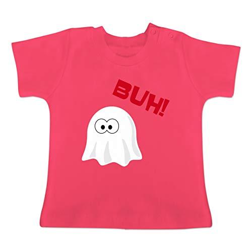 Anlässe Baby - Kleiner Geist Buh süß - 1-3 Monate - Fuchsia - BZ02 - Baby T-Shirt Kurzarm