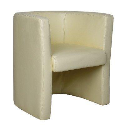 Eliza Tinsley cara de piel elegante respaldo alto sillón Tub/LBK
