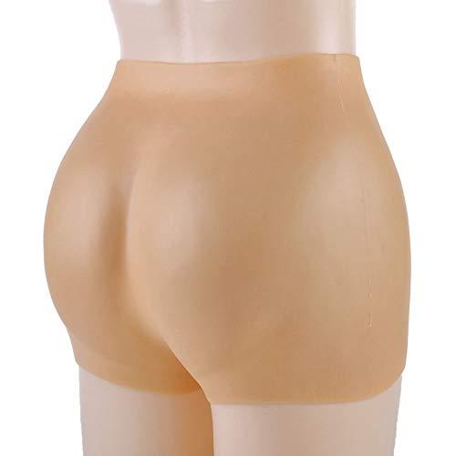 Jiesen-JX Silikon Boyshort, Frauen Silikon Gesäß, Silikon Hip Body Shaping Butt Pants, Body Lebensechte gefälschte Gesäß Silikon Unterwäsche Realistisches Aussehen Bum Enhancer Pants,Skintone,S/1500g -