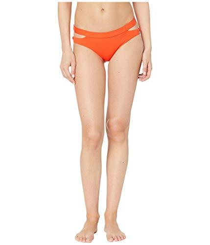 Seafolly Women's Active Split Band Hipster Full Coverage Bikini Bottom Swimsuit -