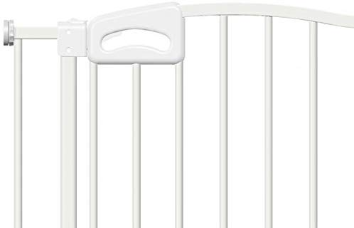 Callowesse Carusi Narrow Stair Gate. Self Closing, Quality Pressure Fitted Baby Gate. No Tools Required. (63-70cm, White) Callowesse Measure your opening before purchase - the carusi narrow only fits openings of 63-70cm. Versatile and dependable - the carusi narrow comes with plenty of features to help make your life easier. One handed operation - for times when you're holding your child or when your hands are full. 2