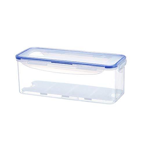CJSWT Crisper, Frischhaltedose mit Abnehmbarer Abtropffläche und Deckel, PP-Material, zum Aufbewahren von Fisch, Fleisch, Gemüse und mehr, weiß -
