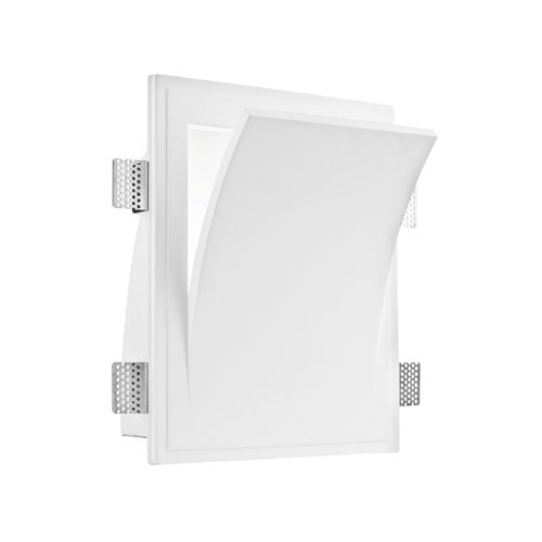 Applique da incasso a scomparsa design moderno gesso bianco 40w