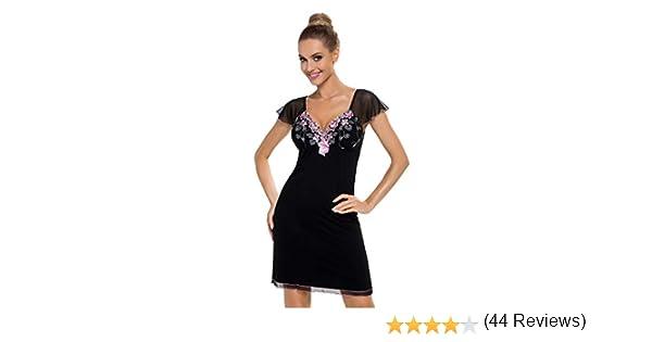 Donna Camicia da notte//neglig/é  in viscosa con splendidi dettagli in tulle in una fantastica confezione regalo da Donna,
