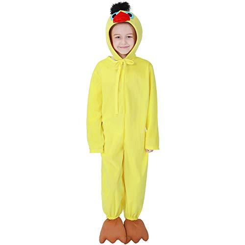 FDHNDER Child Cosplay Kleid Verrücktes Kleid Partei Kostüm Outfit Jungen und Mädchen Ente Kostüme Kostüme, L- (Höhe 120-130) (Ente Mädchen Kostüm)